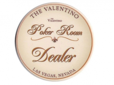 Poker Dealer Chip Valentino