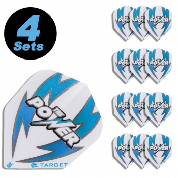4 Flight Sets (12 Stk.) Standard Power Arc weiß/blau