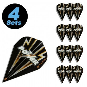 4 Flight Sets (12 Stk.) Vapor Power Flash schwarz/gold
