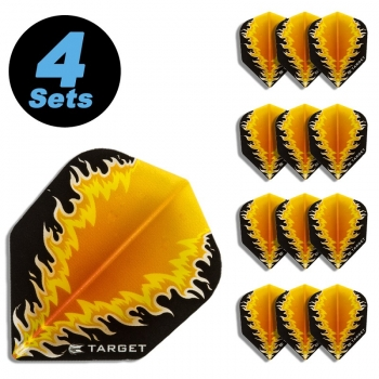 4 Flight Sets (12 Stk.) Standard Vision Fire schwarz/orange