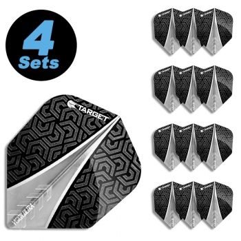 4 Flight Sets (12 Stk) Standard Vision Ultra 1 schwarz/transparent