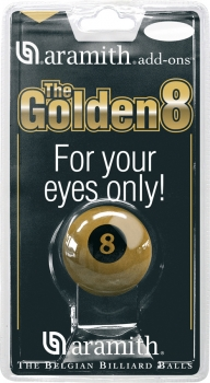 "Pool Ball Nr. 8 "" The Golden 8"" Aramith 57.2 mm"