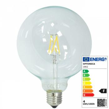Aus Onlineshop Led Birne E27 4w 230 Volt G125 Birne Glas 400 Lumen