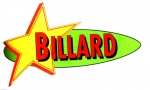 Werbeschild Billard Super Color
